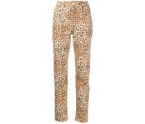 'Tara' Jeans mit Leoparden-Print
