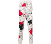 print skinny sweat trousers