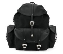 Oversized-Rucksack mit Westernschnallen