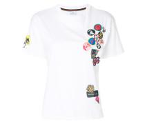 T-Shirt mit Sticker-Print