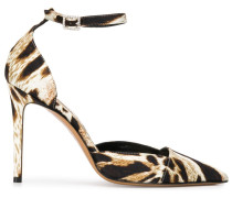 'Cindy' 100mm Pumps mit Leoparden-Print