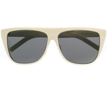 Sonnenbrille in Schlangenleder-Optik
