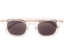 square frame aviator-style sunglasses