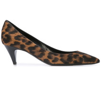 Leoparden-Pumps mit Fellbesatz