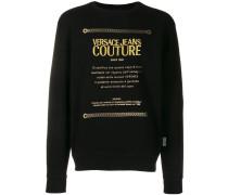 Sweatshirt mit Metallic-Print