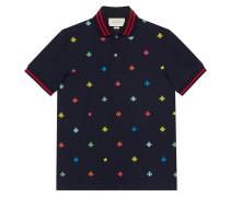 Poloshirt mit Bienen und Sternen