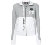logo print zipped sweatshirt