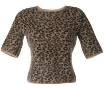 Stricktop mit Leopardenmuster