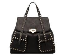black Rockstud leather backpack