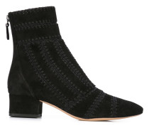 embroidered ankle boot