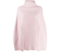 Gerippter Cropped-Poncho