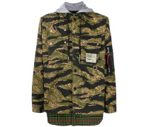 Military-Jacke im Layering-Look