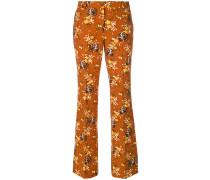 Ausgestellte Hose mit floralem Print