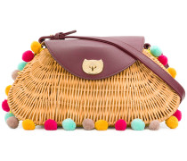 wicker basket tote