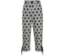 G.V.G.V. polka dot lace up detail trousers