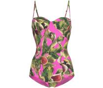 Balconette-Badeanzug mit Print