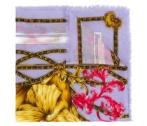 Schal mit floralem Löwen-Print