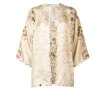 Kimonojacke mit Print
