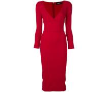 Figurbetontes Kleid mit V-Ausschnitt