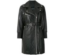 + Kalline elongated leather jacket