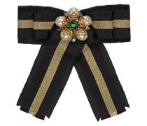 Web grosgrain bow brooch