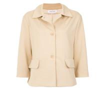 cropped sleeves coat