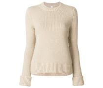 Kaschmir-Pullover mit geripptem Saum