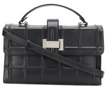 embossed check tote