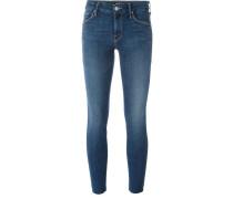 'Looker' Jeans mit ausgefranstem Saum