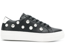 faux pearl-embellished sneakers