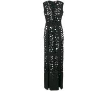 cut-detail flared maxi dress