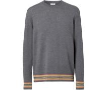 Merino-Pullover mit Streifen