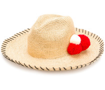 pompom sun hat