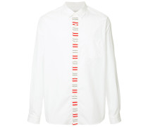 knit embroidered placket shirt