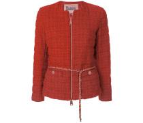 Tweed-Jacke mit Gürtel