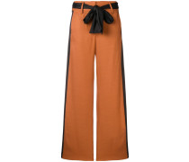 contrasting side panels trousers