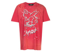 Amour distressed T-shirt