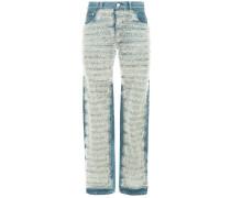 ruffled tulle jeans short length