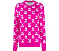 Jacquard-Pullover mit Teddybärenmotiv