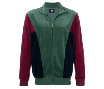 colour-block zipped jacket