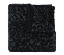 Intarsien-Schal mit Leopardenmuster