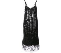 lace trim sequin slip dress