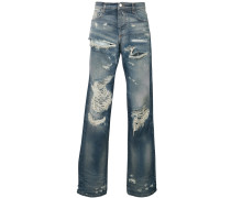 distressed regular jeans