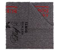 Schal mit Slogan-Print