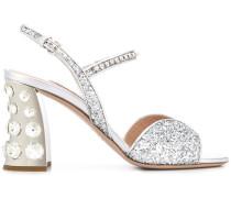 95mm Sandalen mit Glitter-Detail