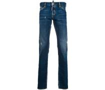 Distressed-Jeans mit Tragefalten