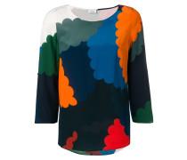 Bluse in Colour-Block-Optik