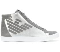 High-Top-Sneakers mit Metallic-Effekt