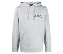 A.P.C. Kapuzenpullover mit Logo