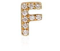 18kt 'F' Gelbgoldanhänger mit Diamanten